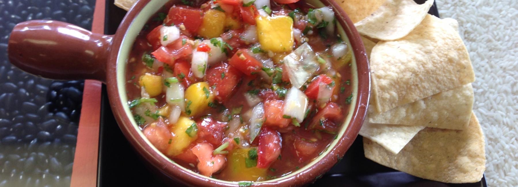 Paprika-mango salsa